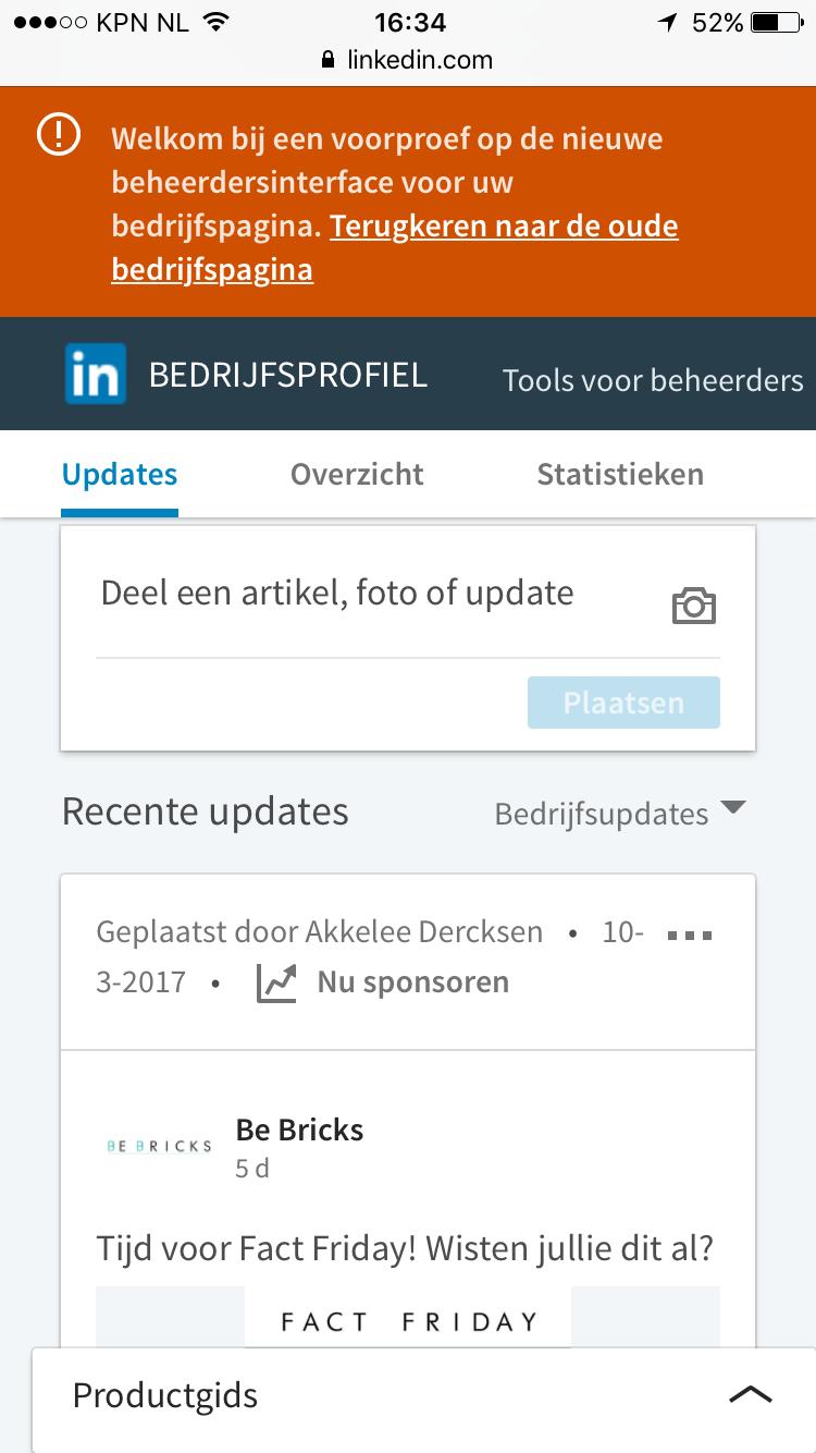 Bedrijfsupdates plaatsen op LinkedIn vanaf je telefoon 5
