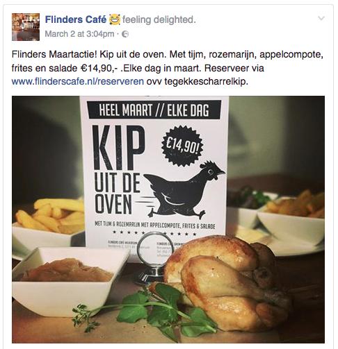 Voorbeeld blog content tips Flinders Café in Groningen aanbieding