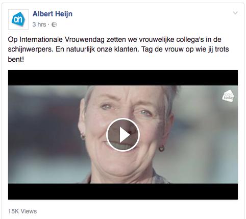 Voorbeeld blog content tips Albert Heijn over actualiteit
