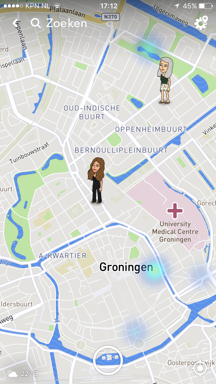 Snap Map van Snapchat blog Be Bricks Groningen