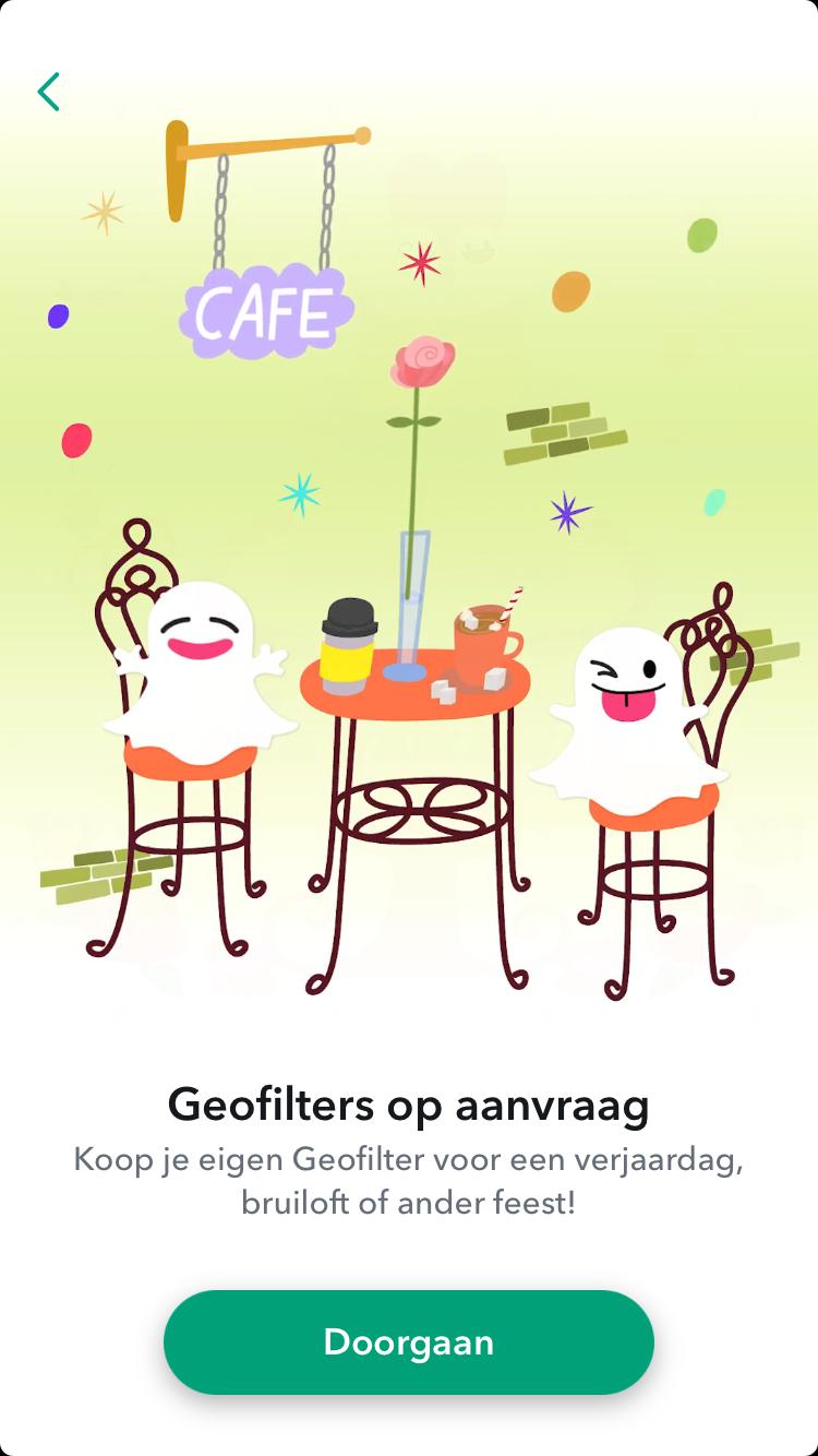 Vierde stap eigen geofilter maken in SnapChat uitgelegd door Be Bricks social media marketing Groningen